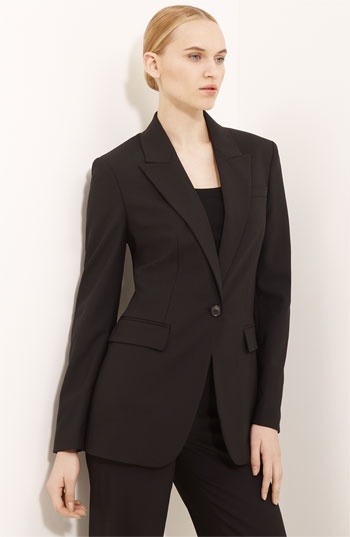 Michael Kors Long One Button Jacket available at #Nordstrom