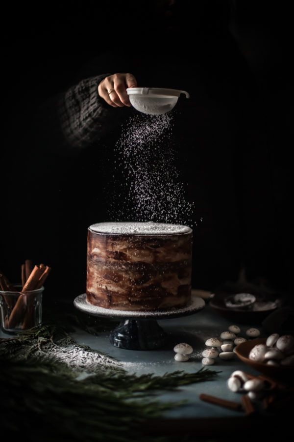 Spiced Hot Chocolate Layer Cake - The Kitchen McCabe