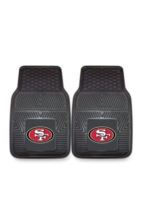 Fanmats Nfl San Francisco 49Ers 2-Piece Vinyl Car Mat Set - Black - One Size