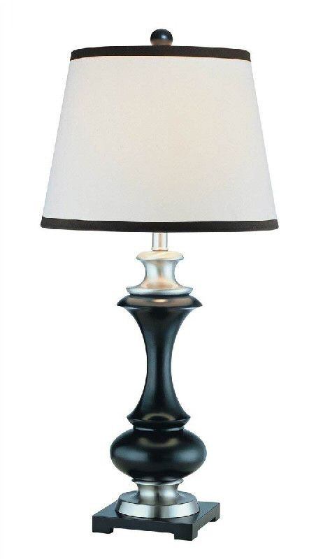 Only 1 left lite source walta table lamp black polished steel ls