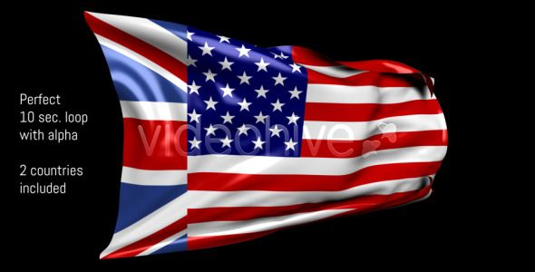 2in1 - United States and United Kingdom Flag Loop