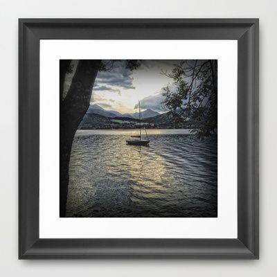 Misty Waters Framed Art Print by AngelEowyn - $34.00