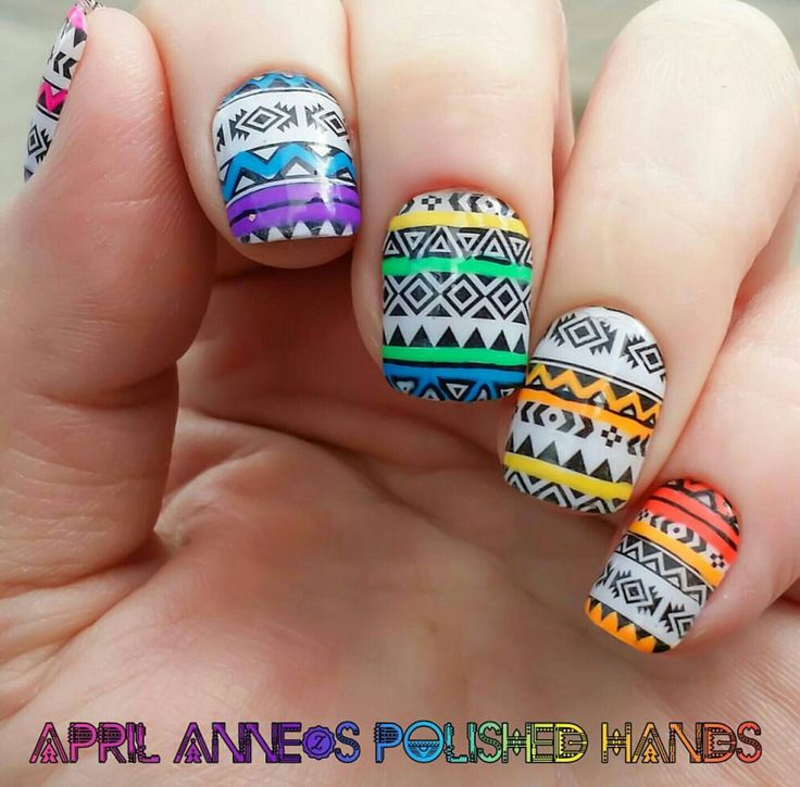 The 25 best tribal print nails ideas on pinterest nail pens aztec tribal print nail art prinsesfo Image collections