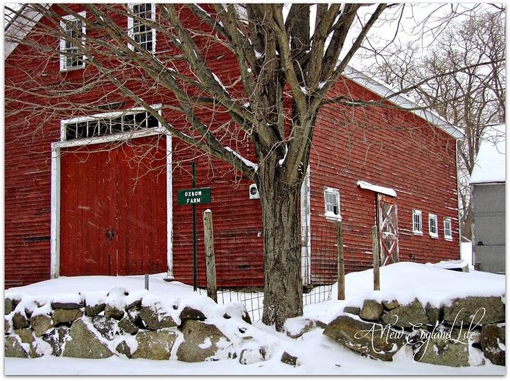 red barn in winter....BEAUTY