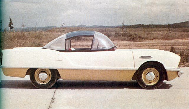 Scroll through 50 years of Japaese concept cars, including this Toyota Proto, 1957. #Concept #AutomotiveHistory #ToyotaLove