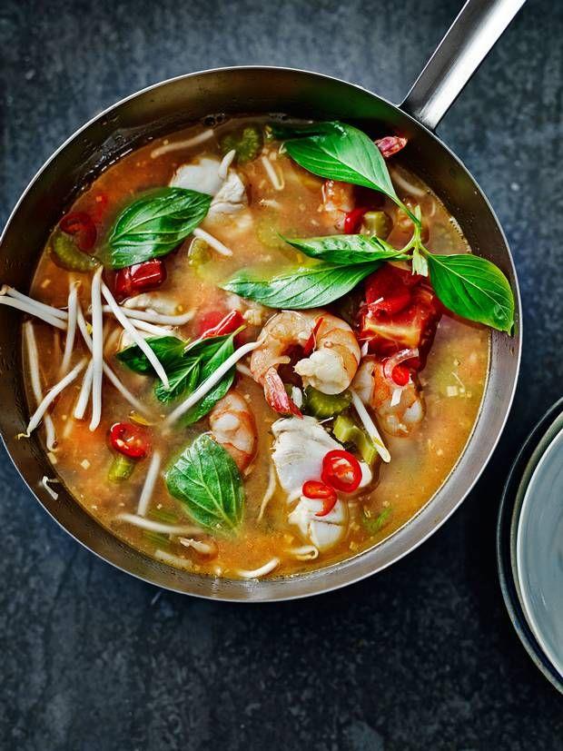 hot + sour seafood soup. bill granger.