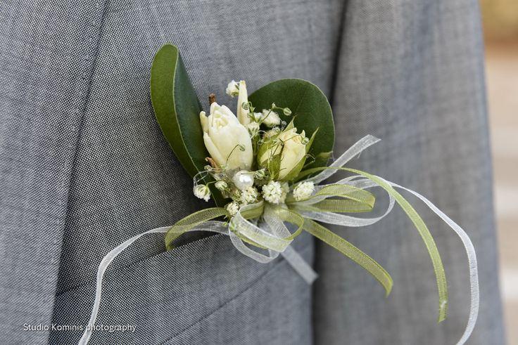 #wedding #andros #greece #greek islands #greek weddings #boutonniere #elegant #flowers  Photo credits: Studio Kominis