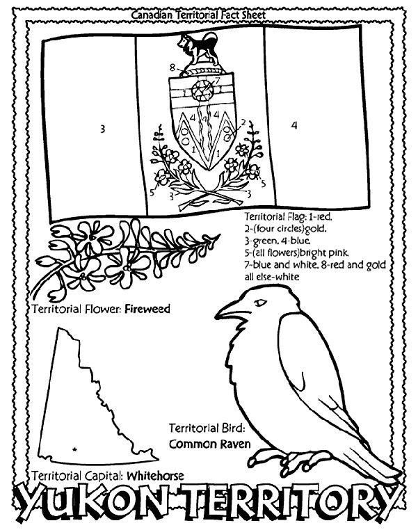 Canadian Territory - Yukon Territory coloring page