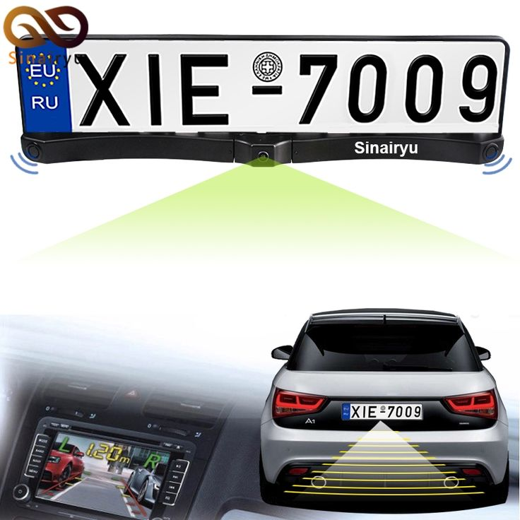 46.05$  Watch now - http://aliuo6.shopchina.info/1/go.php?t=32658071497 - 3in1 New Night Vision European License Plate Frame Car Rear View Camera With Auto Parking Sensor Reverse Backup Radar System  #buychinaproducts