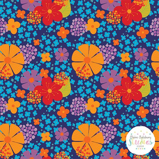 Claire Salisbury Studios - Floral Explosion created during @makeitindesign #winterschool2018