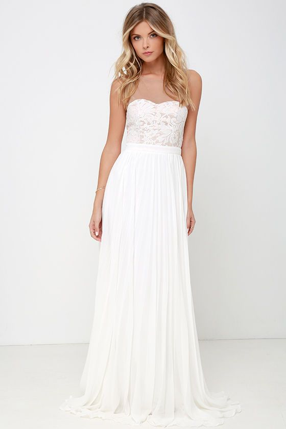 I M Flattered Ivory Embroidered Maxi Dress In 2019