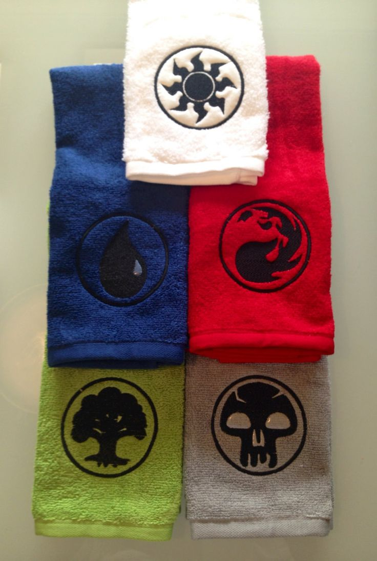 Magic the Gathering embroidered towels FULL SET by deMuerto, $45.00