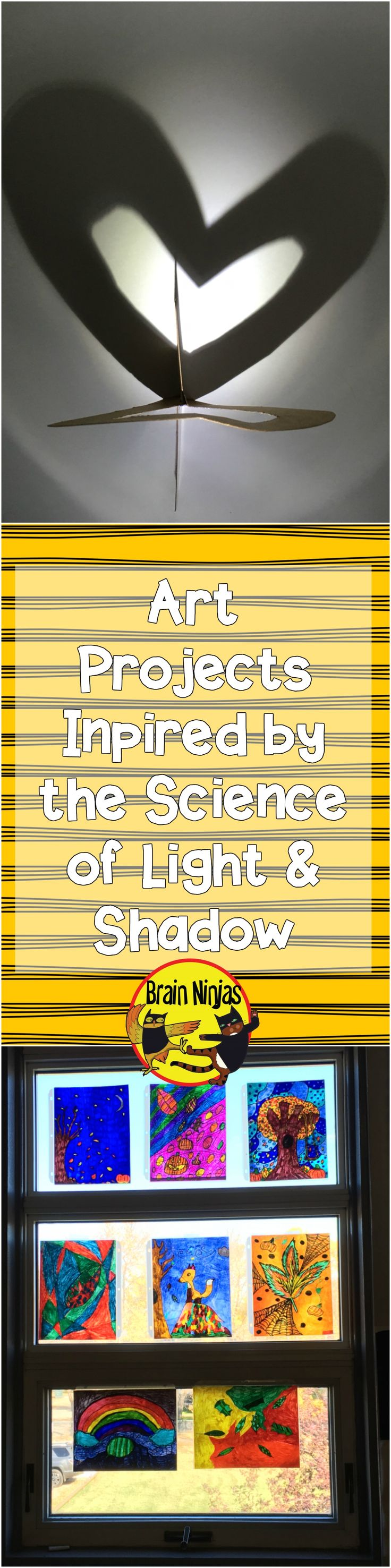 Combine science and art with these art projects you can do with your upper elementary class to teach the principles of light and shadow.