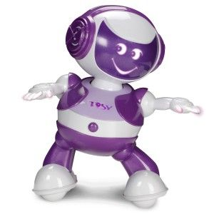 DiscoRobo Toy with Voice-Purple Play your favorite song and watch how TOSY dances to the beat. It can feel the beat of the music and dances along to the beat. Put two DiscoRobo together and watch them dance, talk and interact with each other.  http://awsomegadgetsandtoysforgirlsandboys.com/tosy-robotics-discorobo/ TOSY Robotics: DiscoRobo Toy with Voice-Purple