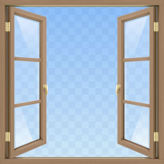 Brown Open Window Open Window Windows Window Illustration