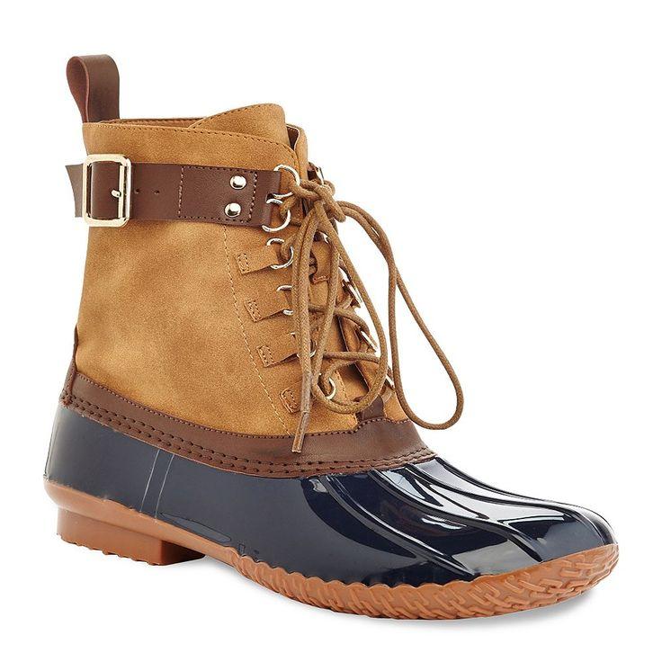 Henry Ferrera Mission 18 Women's Water-Resistant Duck Boots, Size: 10, Blue
