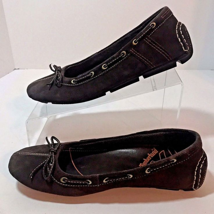 Timberland Driving Loafers Shoes 74391 Size 8M Brown Suede EU 39 Flats  #Timberland #LoafersMoccasins