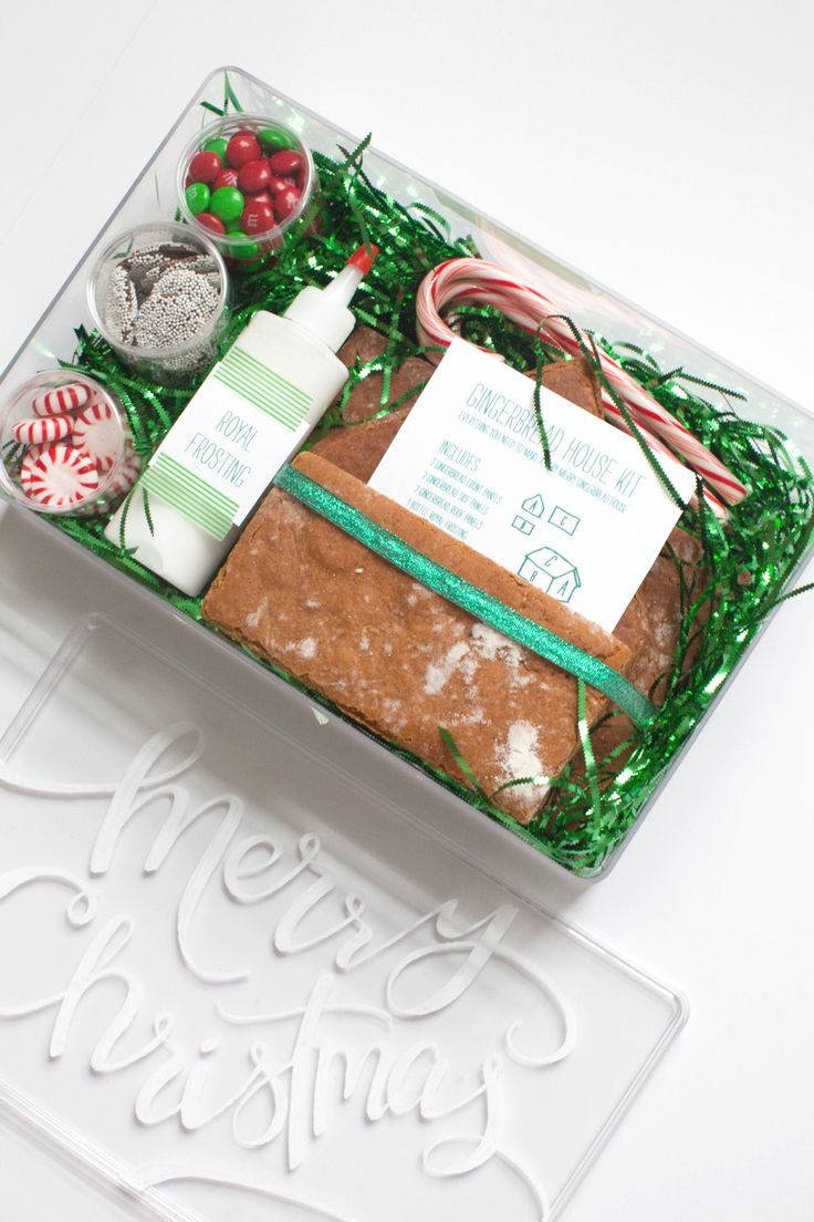 Read More on SMP: http://www.stylemepretty.com/living/2014/12/10/diy-gingerbread-house-kit/