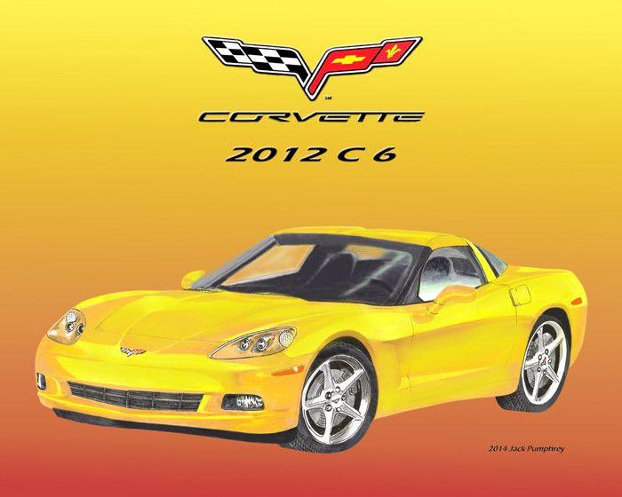 2012 Corvette C 6 K O - Jack Pumphrey Art