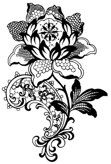 Tons of lovely patterns (mostly floral and flourish)
