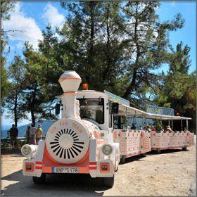 Fun Train on Thassos Island, Greece