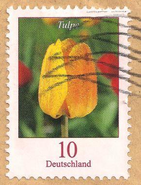 Briefmarke-Europa-Mitteleuropa-Deutschland-10-2005-Tulpe