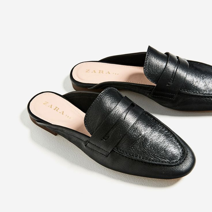 ZARA - WOMAN - LEATHER MULE LOAFERS