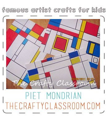 Mondrian Art Project for Kids