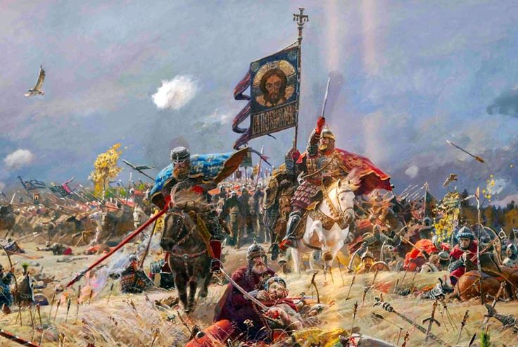 The Battle of Kulikovo (September 8, 1380) was fought between the armies of the Golden Horde under the command of Mamai, and various Russian principalities under the united command of Prince Dmitri of Moscow.