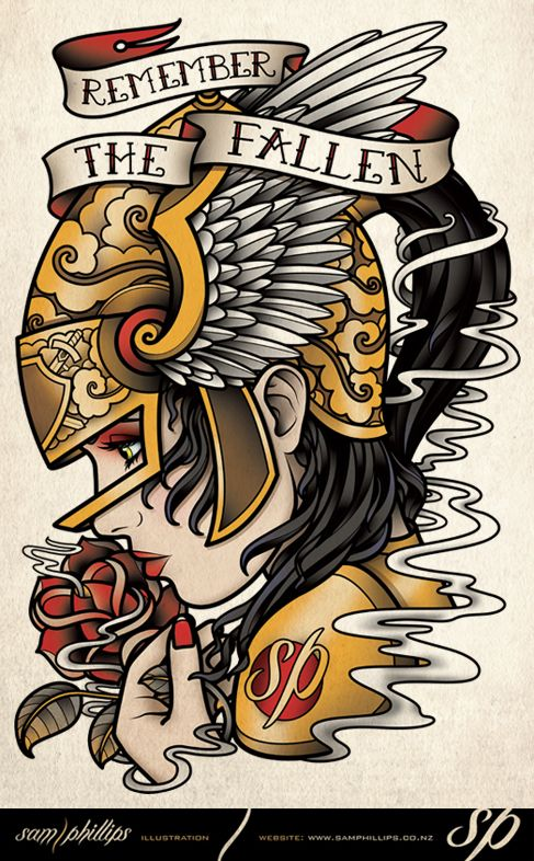 Remember The Fallen Memorial Tattoo Design by Sam-Phillips-NZ.deviantart.com
