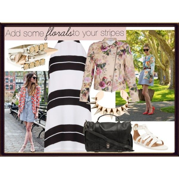 """""""Add some florals to your stripes!"""" by boutique1 on Polyvore"""