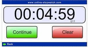 Everybody needs a stopwatch at some point -- and there's never one around! Well... Now there is! Online Stopwatch! A Simple, Fast Flash Online Stopwatch and Online Countdown timer always available when you need it.