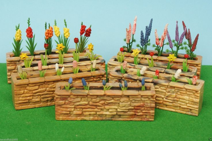 Britains Floral Garden Stone Wall with Flowers (choose from 7 Assorted)...!! | eBay