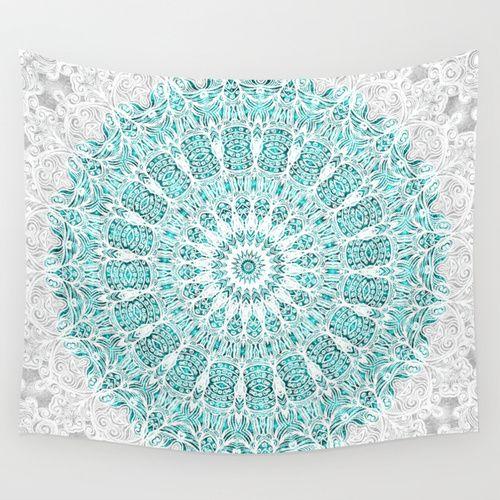 A Glittering Mandala Wall Tapestry by Octavia Soldani | Society6