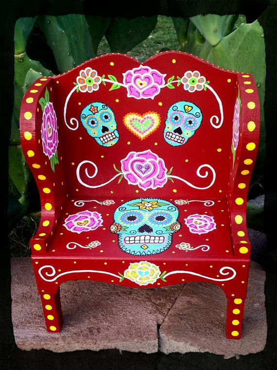 Hey, I found this really awesome Etsy listing at https://www.etsy.com/listing/240943458/sugar-skull-day-of-the-dead-hand-painted