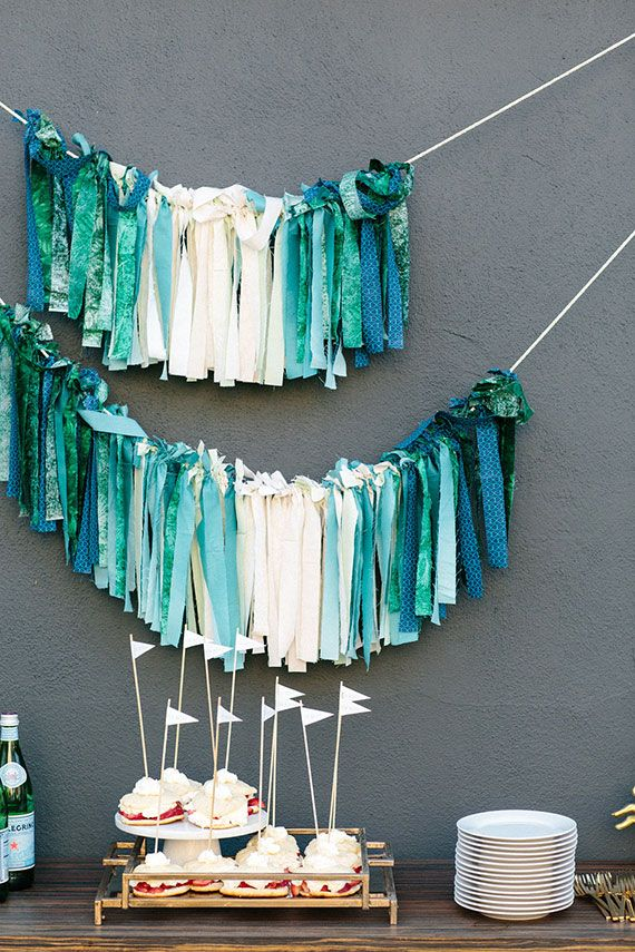 ombre ribbon garland