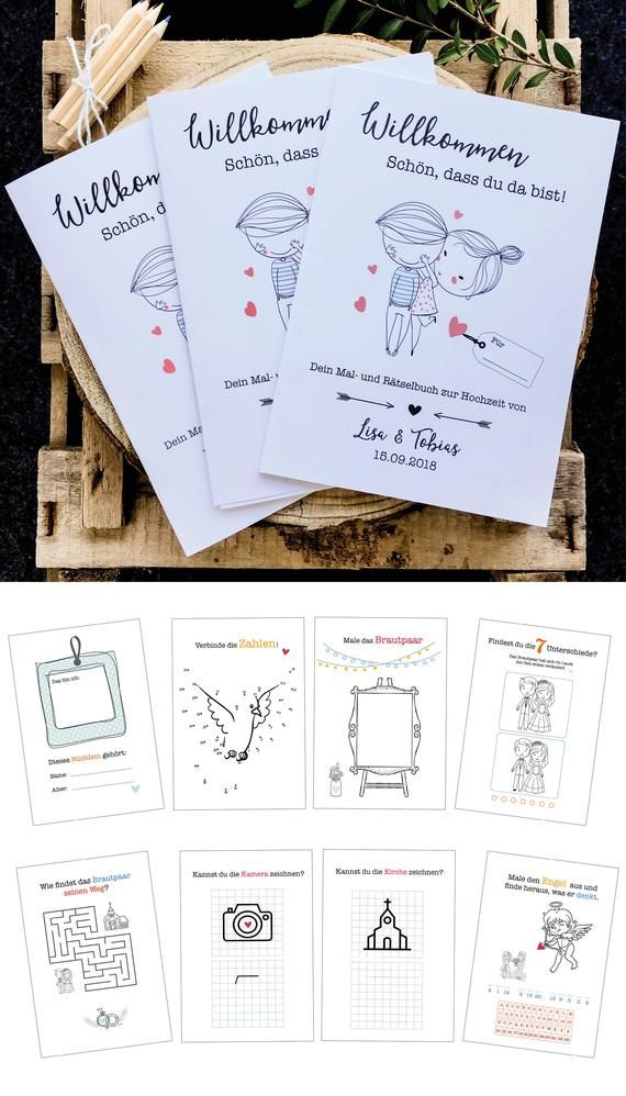 3 customizable wedding painting and jigsaw books for children