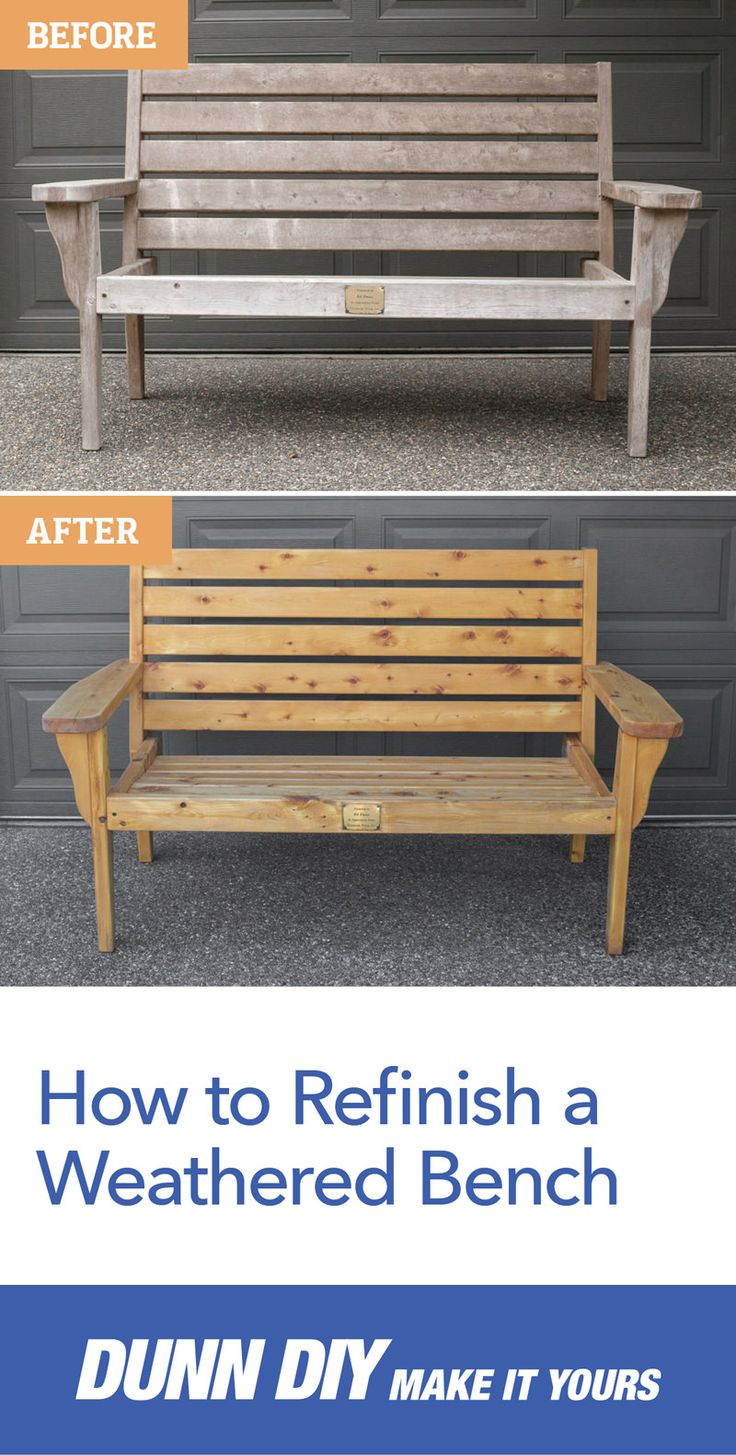 Often times it's easy to forget about old furniture that's been sitting in our backyards for years. Bring new life to old, weathered wooden lawn furniture with this great DIY!