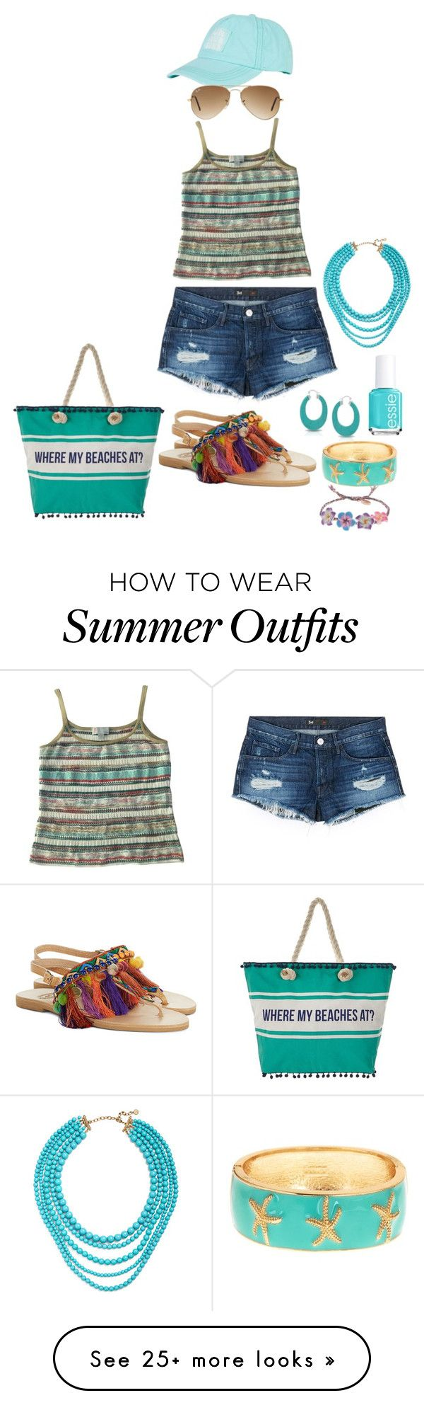 """""""summer in turquoise"""" by muslifa on Polyvore featuring Missoni, 3x1, Elina Linardaki, Billabong, Ray-Ban, Bling Jewelry, Fornash, Venessa Arizaga, Essie and R.J. Graziano"""