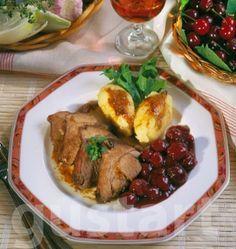 Lajos Mari konyhája - Pulykacomb meggy- mártással, polentával