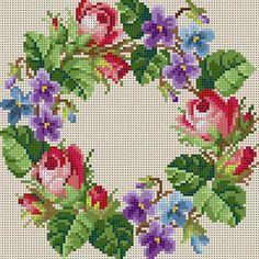 Rose & Violet Wreath
