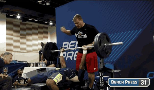 Highlights From The Nfl Combine Muscle Fitness Bench Press Lucas Oil Stadium