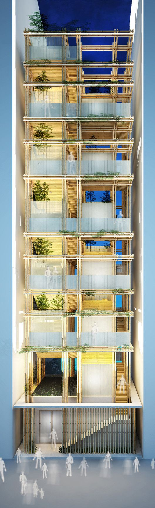 Bee Breeders Announce Winners of Hong Kong Pixel Homes Competition,Green Prize: Exterior Perspective . Image Courtesy of Bee Breeders