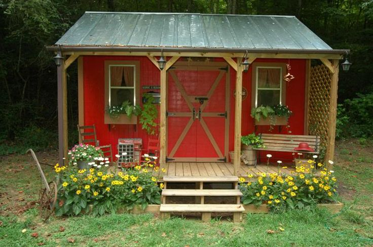 garden shed (or writer's nook, or children's playhouse, or anything you would like a little hideaway)