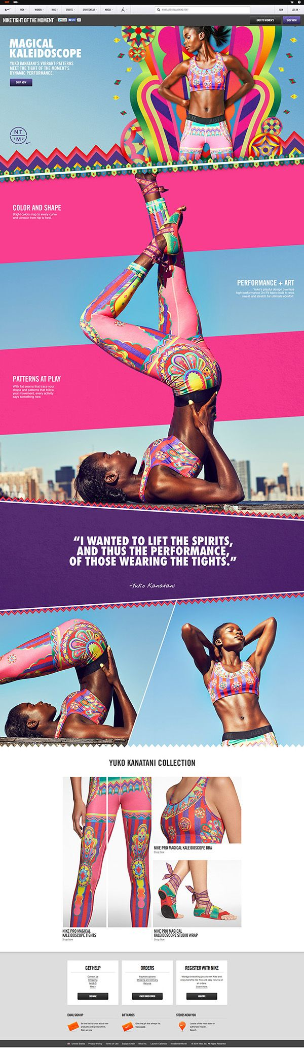 Nike: Tights of the Moment  by Mariola Bruszewska, via Behance #webdesign #fresh