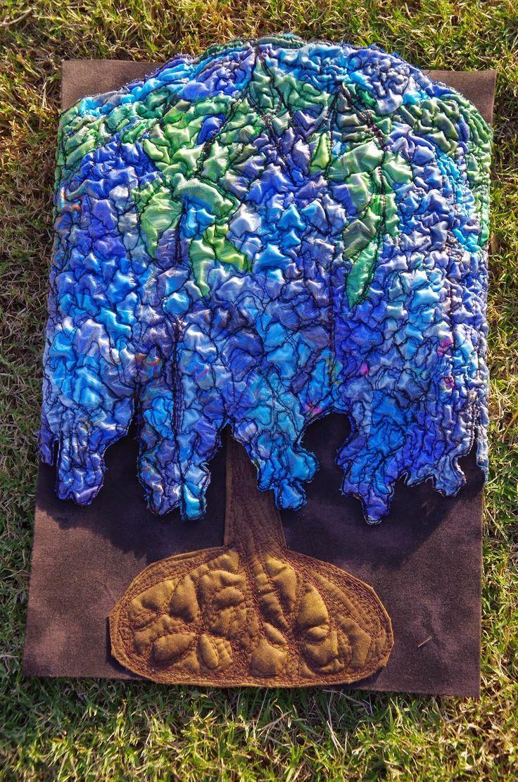 """Art Nouveau - Fleur Maddern - """"Tiffany"""" Challenge 7 - Art Quilts Around the World"""