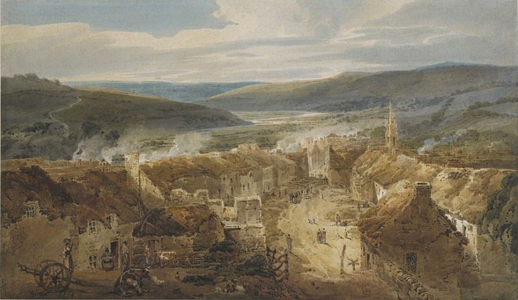The Village of Jedburgh, Roxburgh,, 1800 (National Galleries of Scotland