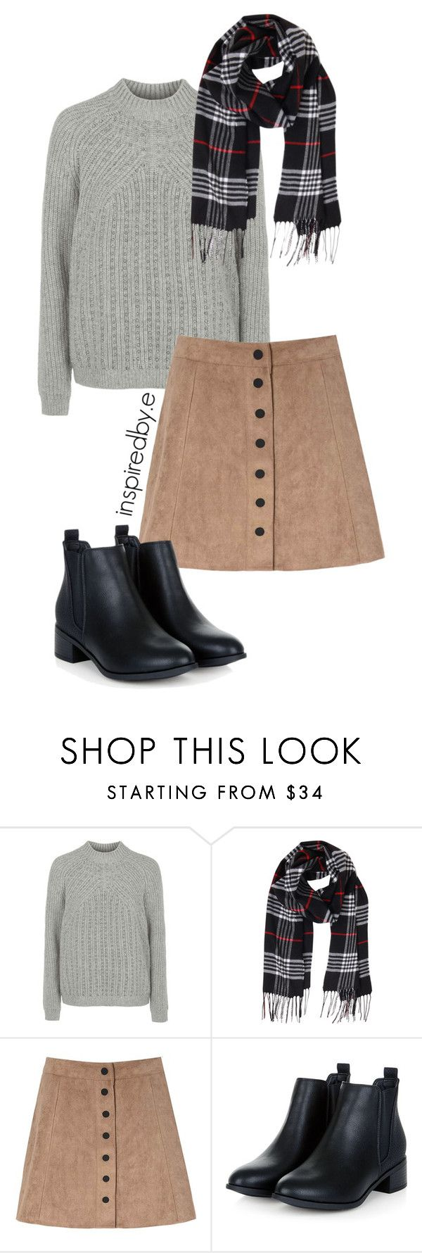 """Schoolgal"" by emmakiis on Polyvore featuring Topshop, Humble Chic and Glamorous"