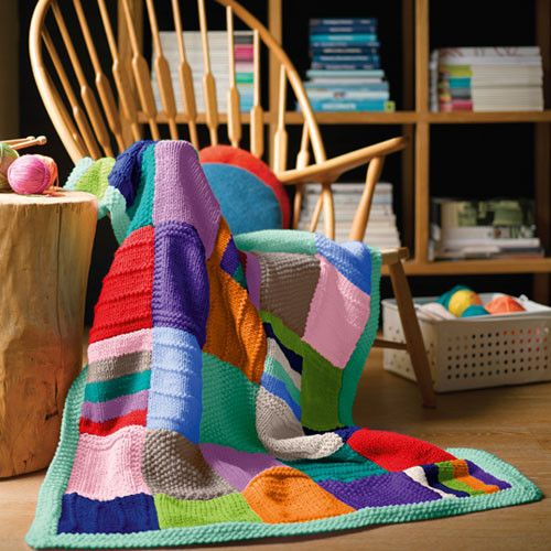 Quick to knit and super easy, these beautiful throws are available to knit in your choice of two gorgeous colourways (Mint or Blue).