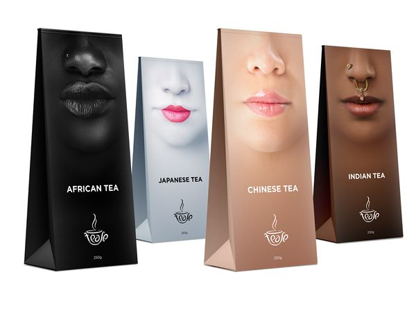 this multicultural tea packaging appeals to everyones tastes - Coloration Revlon